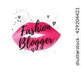 fashion blogger beautiful card  ... | Shutterstock .eps vector #429204421