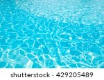 blue pool water with sun... | Shutterstock . vector #429205489
