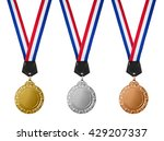 three medals   gold  silver and ... | Shutterstock . vector #429207337