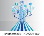 project management conceptual... | Shutterstock .eps vector #429207469