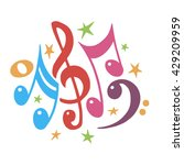 music notes color .abstract... | Shutterstock .eps vector #429209959