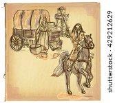 an hand drawn retro vector... | Shutterstock .eps vector #429212629
