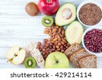 avocado  flax seeds  whole... | Shutterstock . vector #429214114