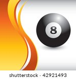 eight ball vertical orange wave | Shutterstock .eps vector #42921493