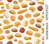seamless bakery icons... | Shutterstock .eps vector #429219127