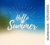 vector hello summer background. ...   Shutterstock .eps vector #429220531