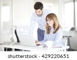 portrait of executive financial ... | Shutterstock . vector #429220651
