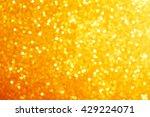 golden glitter bokeh background.... | Shutterstock . vector #429224071