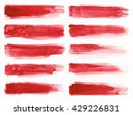 strokes of red paint isolated...   Shutterstock . vector #429226831