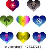 hearts  | Shutterstock .eps vector #429227269