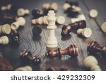 chess winning concept on the... | Shutterstock . vector #429232309
