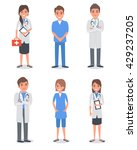 isolated doctors and other... | Shutterstock .eps vector #429237205