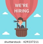businessman hr searching for... | Shutterstock .eps vector #429237211