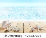 deck with shells | Shutterstock . vector #429237379