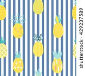 pineapple colorful seamless...   Shutterstock .eps vector #429237589