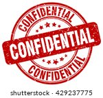 confidential. stamp. red round... | Shutterstock .eps vector #429237775