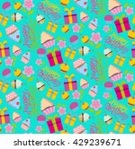 happy birthday pattern with...   Shutterstock .eps vector #429239671