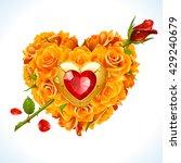 vector yellow roses  golden... | Shutterstock .eps vector #429240679