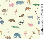 pattern animals flat | Shutterstock . vector #429242191