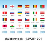 collection of flags of... | Shutterstock .eps vector #429254104