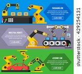 industrial automation conveyor  ... | Shutterstock .eps vector #429254131