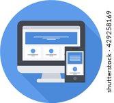 responsive web design flat long ... | Shutterstock .eps vector #429258169