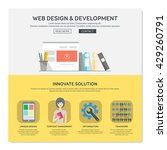 one page web design template...   Shutterstock .eps vector #429260791