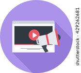 video marketing flat long... | Shutterstock .eps vector #429262681