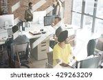 contemporary cooperation... | Shutterstock . vector #429263209