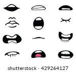vector cartoon mouth set | Shutterstock .eps vector #429264127
