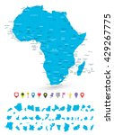 map of africa with it's states... | Shutterstock .eps vector #429267775