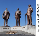 the three chiefs monument in... | Shutterstock . vector #429268411