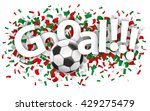 confetti with football and text ... | Shutterstock .eps vector #429275479