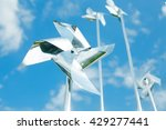 metal pinwheels on background... | Shutterstock . vector #429277441
