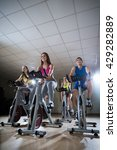 smiling people on a cycle... | Shutterstock . vector #429282889