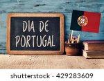 the text dia de portugal  day...   Shutterstock . vector #429283609