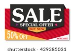 sale banner and best offer... | Shutterstock . vector #429285031