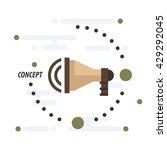 megaphone concept vector brown