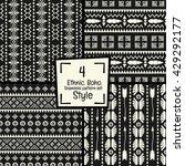 seamless abstract vector tribal ... | Shutterstock .eps vector #429292177