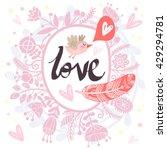 floral vector  gentle... | Shutterstock .eps vector #429294781