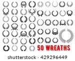 vintage wreaths heraldic design ... | Shutterstock .eps vector #429296449