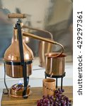 Small photo of the copper alembic for the distillation of grappa.