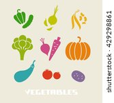 vector color vegetables icon.... | Shutterstock .eps vector #429298861