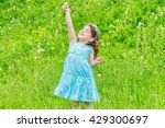 beautiful child girl with...   Shutterstock . vector #429300697