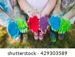 hands   palms of young people...   Shutterstock . vector #429303589