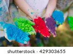 hands   palms of young people... | Shutterstock . vector #429303655