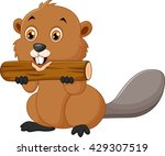 illustration of a beaver on a... | Shutterstock . vector #429307519