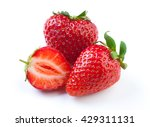 beautiful strawberries isolated ... | Shutterstock . vector #429311131
