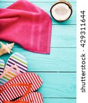Colorful Flip Flops  Towel And...