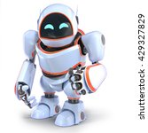 robot 3d illustration on a... | Shutterstock . vector #429327829